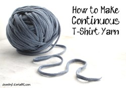 how to make continuous t-shirt yarn