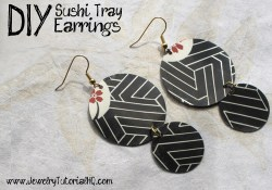 Jewelry tutorial - DIY sushi tray earrings {video}