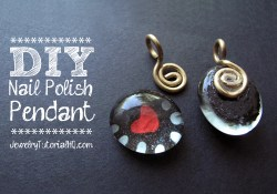 DIY Nail Polish Jewelry - Painted Heart Pendant Tutorial