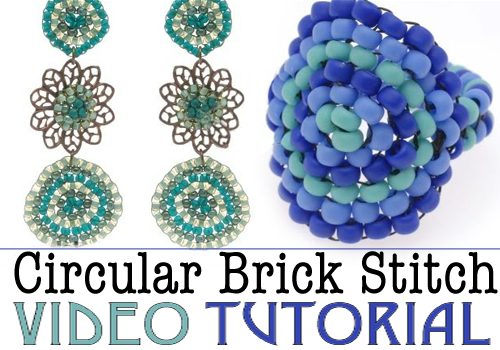 circular brick stitch video beadweaving tutorial