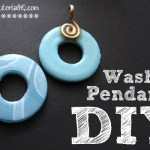 DIY 2-Sided Washer Pendants {Video}