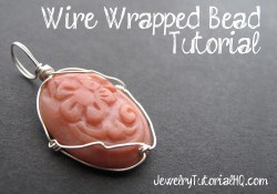 Wire Wrapped Caged Bead Tutorial {Video}