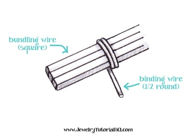 All about Jewelry Wire - Wire Shapes. Different shaped wire is used for different jewelry making applications. Learn about round, half-round, twisted, and square wire at www.JewelryTutorialHQ.com