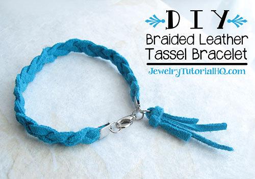 braided leather tassel bracelet tutorial