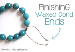 how to finish waxed cord ends