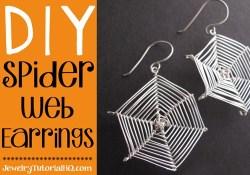 DIY halloween spider web earrings {video tutorial}