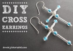 DIY Beaded Cross Earrings – Christmas / Easter Craft