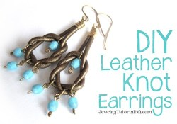 DIY leather knot earrings tutorial