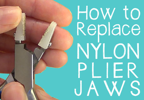 how to replace nylon plier jaws (video demo)