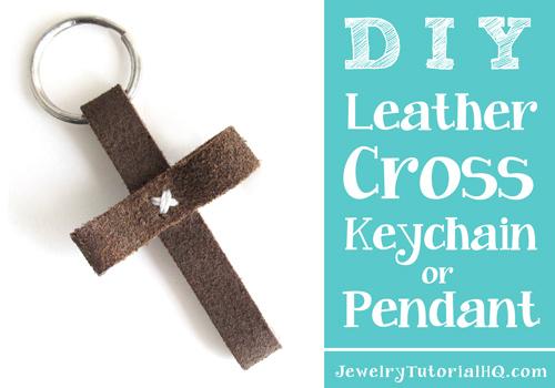 DIY leather cross keychain or pendants video tutorial