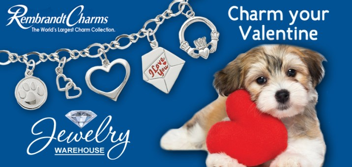 Charm your Valentine! - Available in stores or online. http://www.jewelrywarehouse.com
