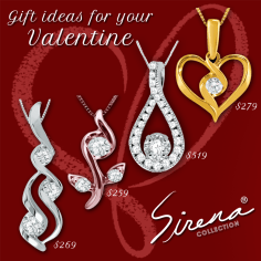 Gift ideas for your Valentine! Sirena pendants - - Available in stores or online. http://www.jewelrywarehouse.com