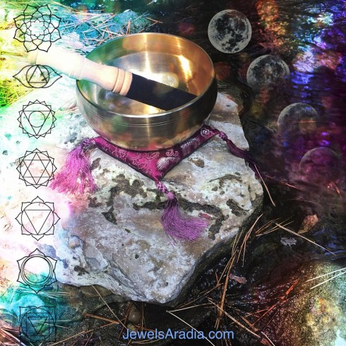 chakra, singing bowl, frog totem, creek, water magic, sound healing, sonic healer, energy healing, magical life