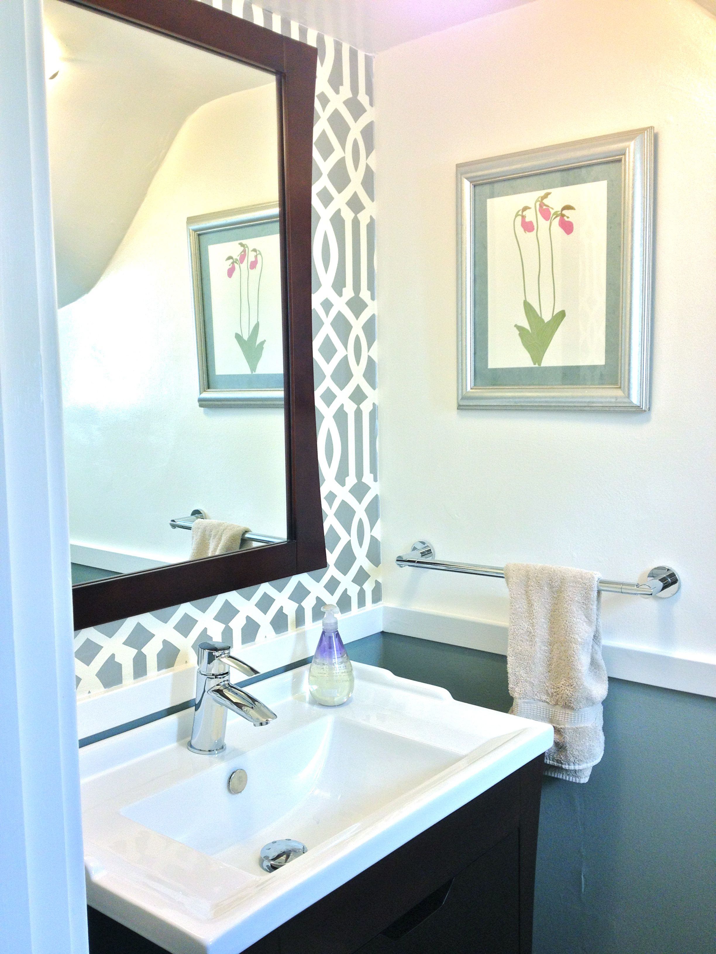 pictures of chair rails in bathrooms where can i buy a hanging powder room reveal  tiny silver gem jewels at home