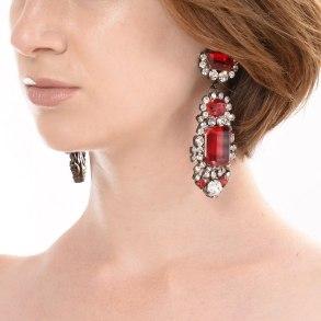 Alan Anderson Drop Earrings Ruby
