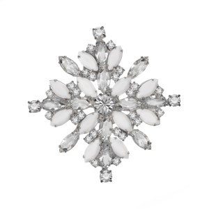 Jewels by Alan Anderson Holiday Snowflake Brooch 4-branch