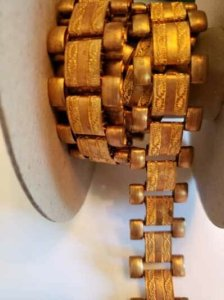 Ornate flat metal chain