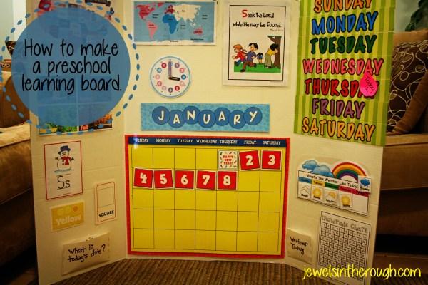 Preschool Learning How to Make a Board