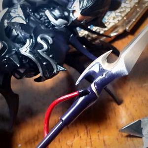 エスティニアンフィギュア槍の補修