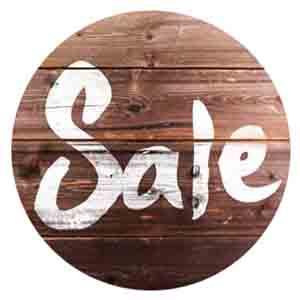 Chalk sale sign