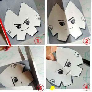 もちマス型紙 顔