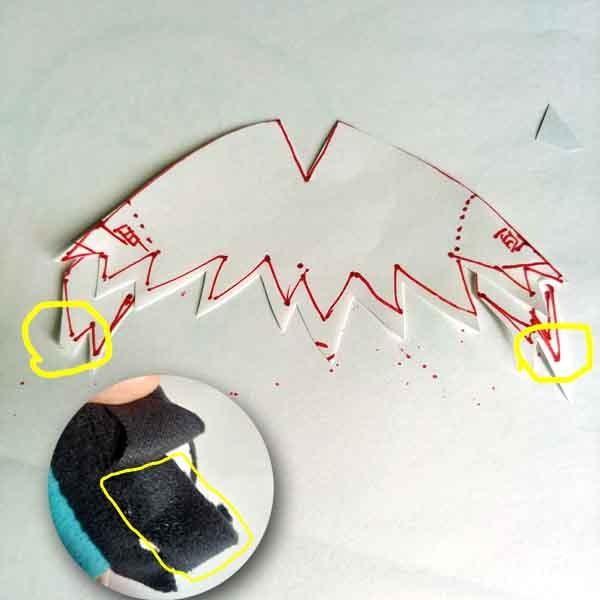 手作りもちマス型紙 ロングヘア