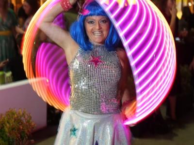 Getty gig Jewelz LED half pink sphere