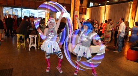 Getty gig La La Sistarz LED hoops