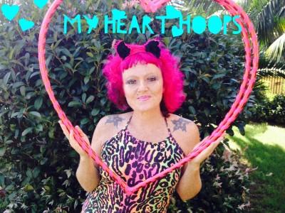 Jewelz - Heart hoops IMG_9122