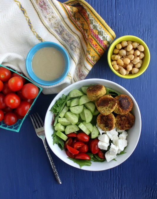 falafel feta salad jewhungry kosher blog