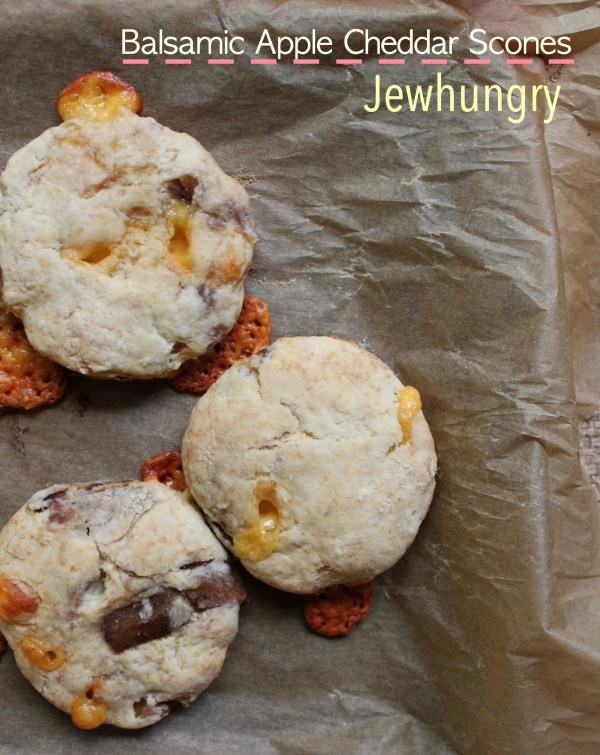 Kosher Jewhungry blog scones Apple cheddar title