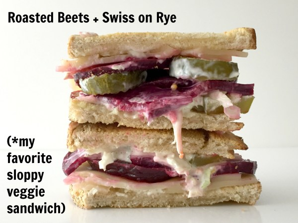 roasted beets vegetarian kosher sandwich