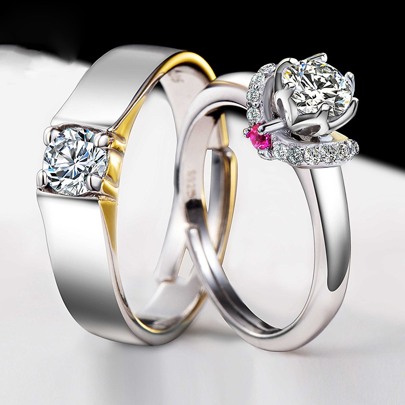 925 Silver Plated White Gold Beautifully Wedding