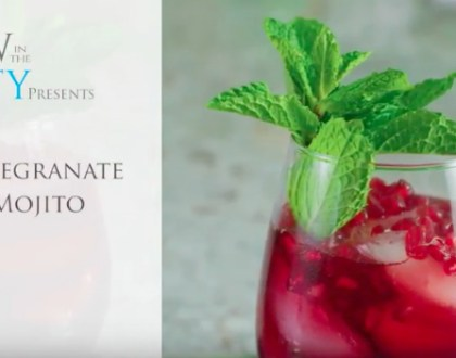 50 Second Rosh HaShana Recipe Video: Pomegranate Mojito