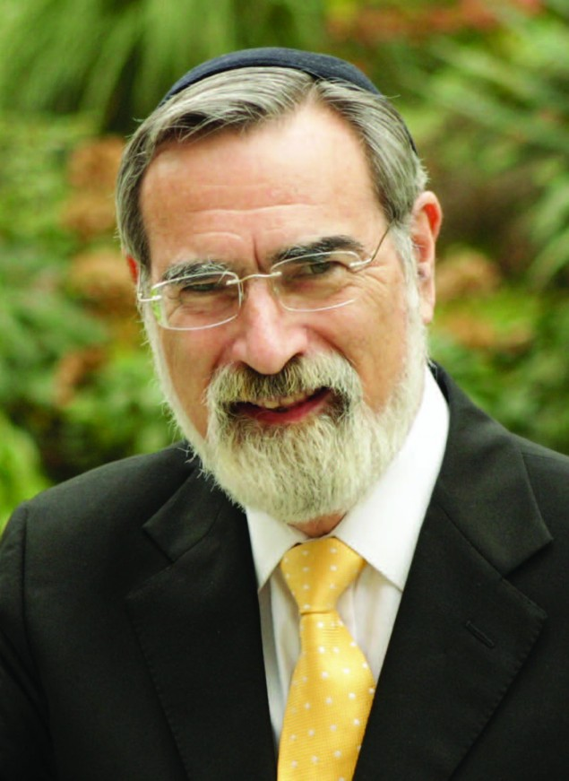 Rabbi Lord Jonathan Sacks retires as Britain's chief rabbi in September after serving in the position for twenty-two years. Photo courtesy of the Office of the Chief Rabbi