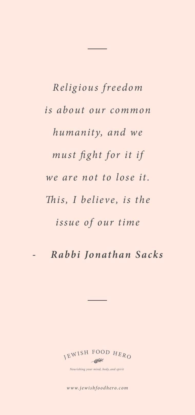 Rabbi Jonathan Sacks quotes, quotes on religious freedom, Jewish quotes on freedom