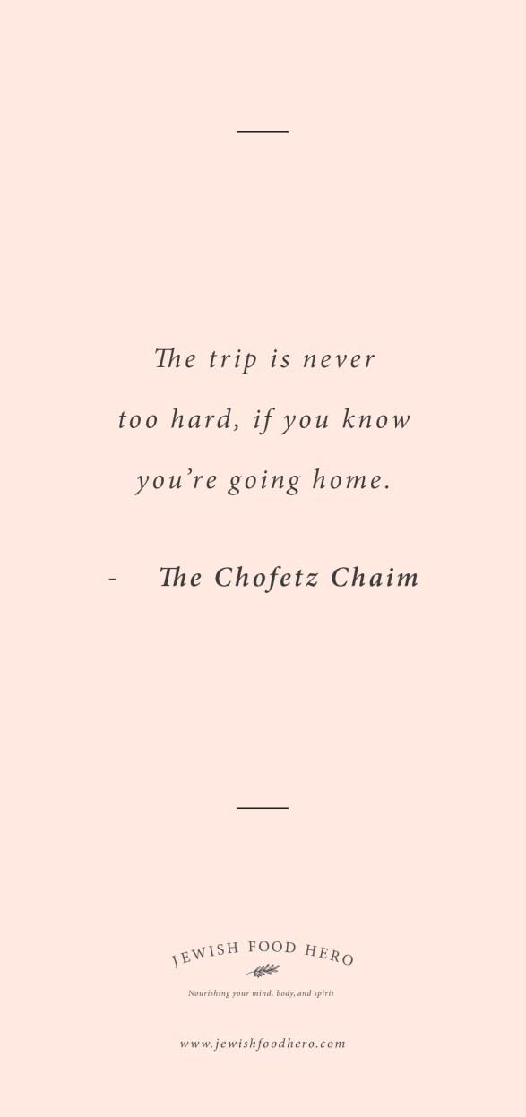 Comforting Jewish Quotes on Home - The Chofetz Chaim, Pink