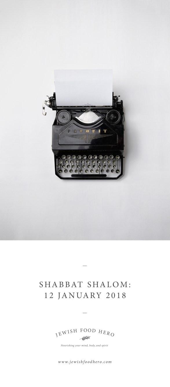 Shabbat Shalom 12 January - Typewriter