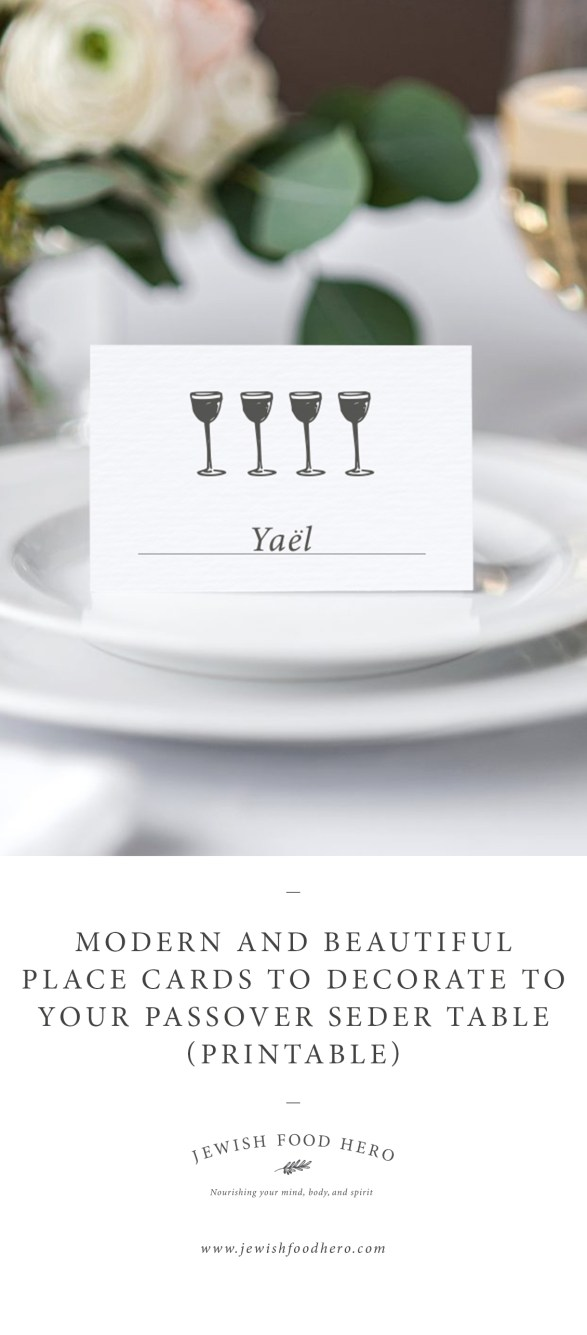 passover place cards - Table Place Cards
