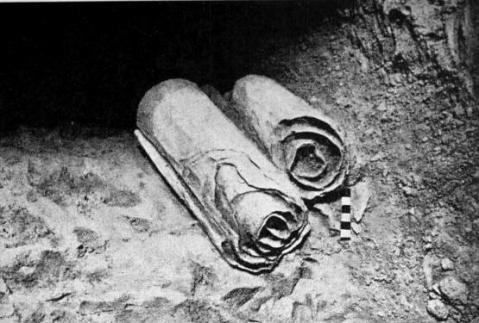 Two of the scrolls in the Qumran Caves