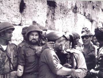 Soldiers celebrating the liberation of the Kosel