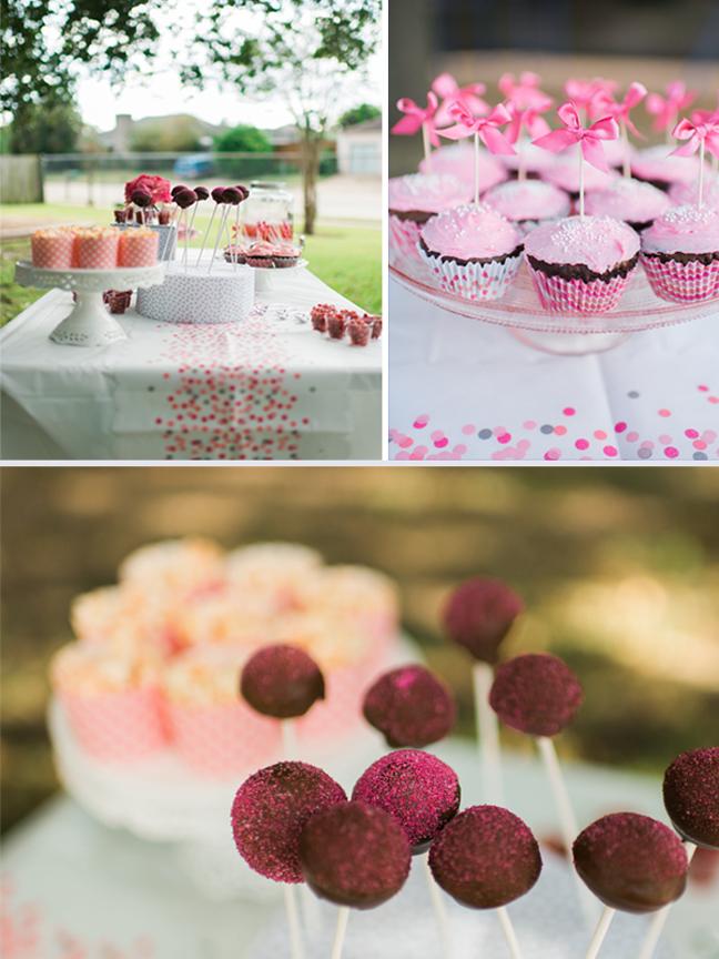 dessert table at jewish girl birthday