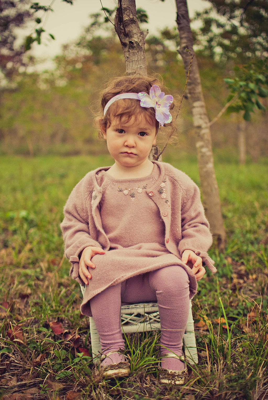 Child with sad face