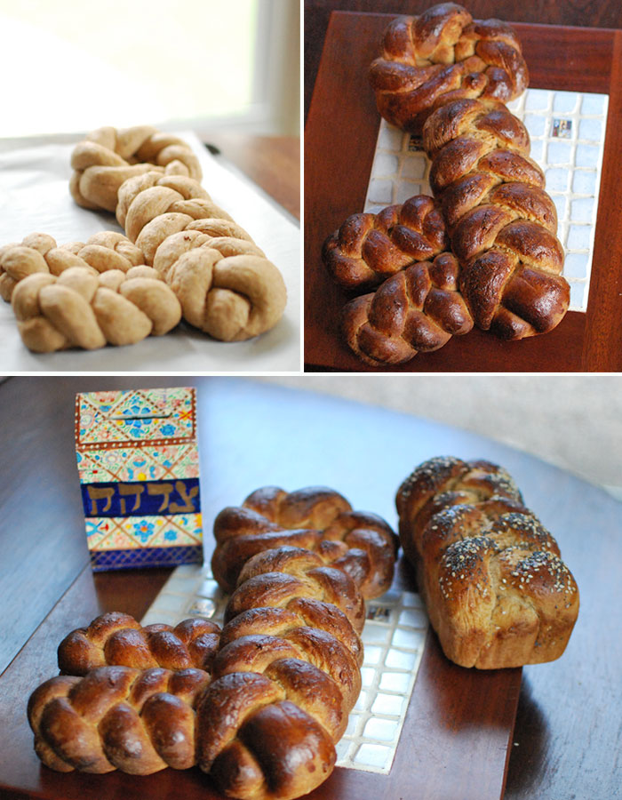 Challah in shape of a key