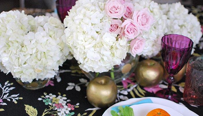 Floral Tablescape for Shavuot