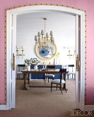 Wall with trim on Elle Decor