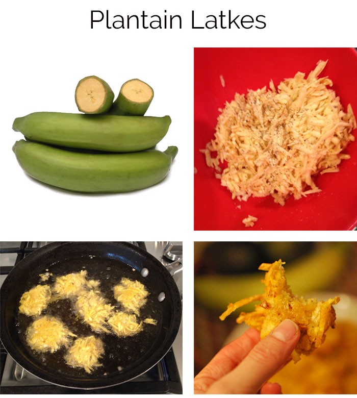Procedure to make Latke recipe out of Plantains