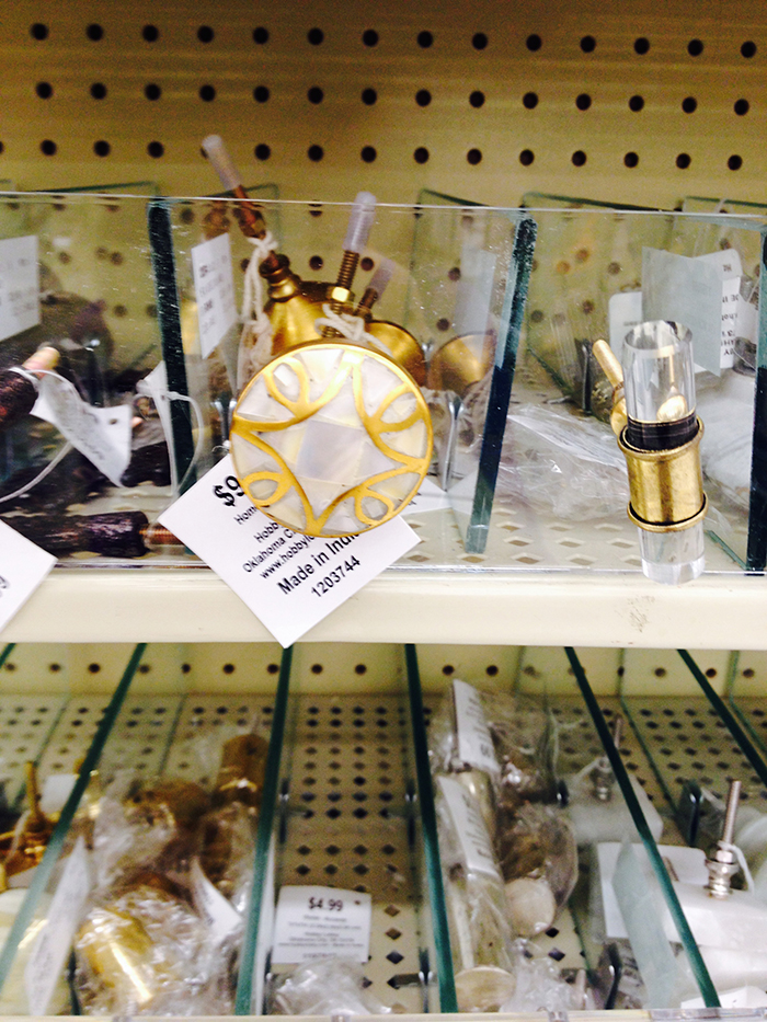 Anthropologie knobs found at hobby lobby