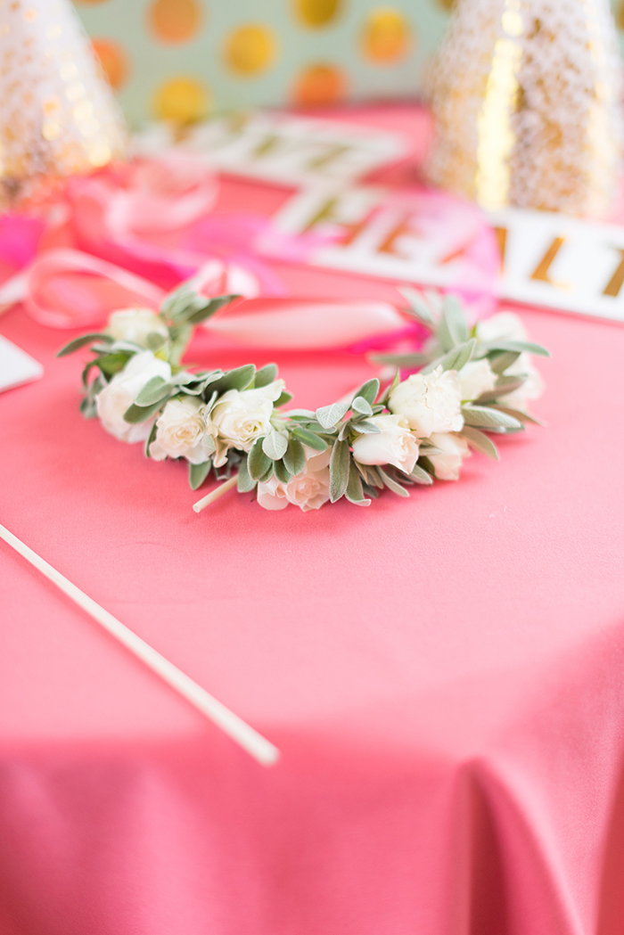 Flower crown for Coral Bat Mitzvah