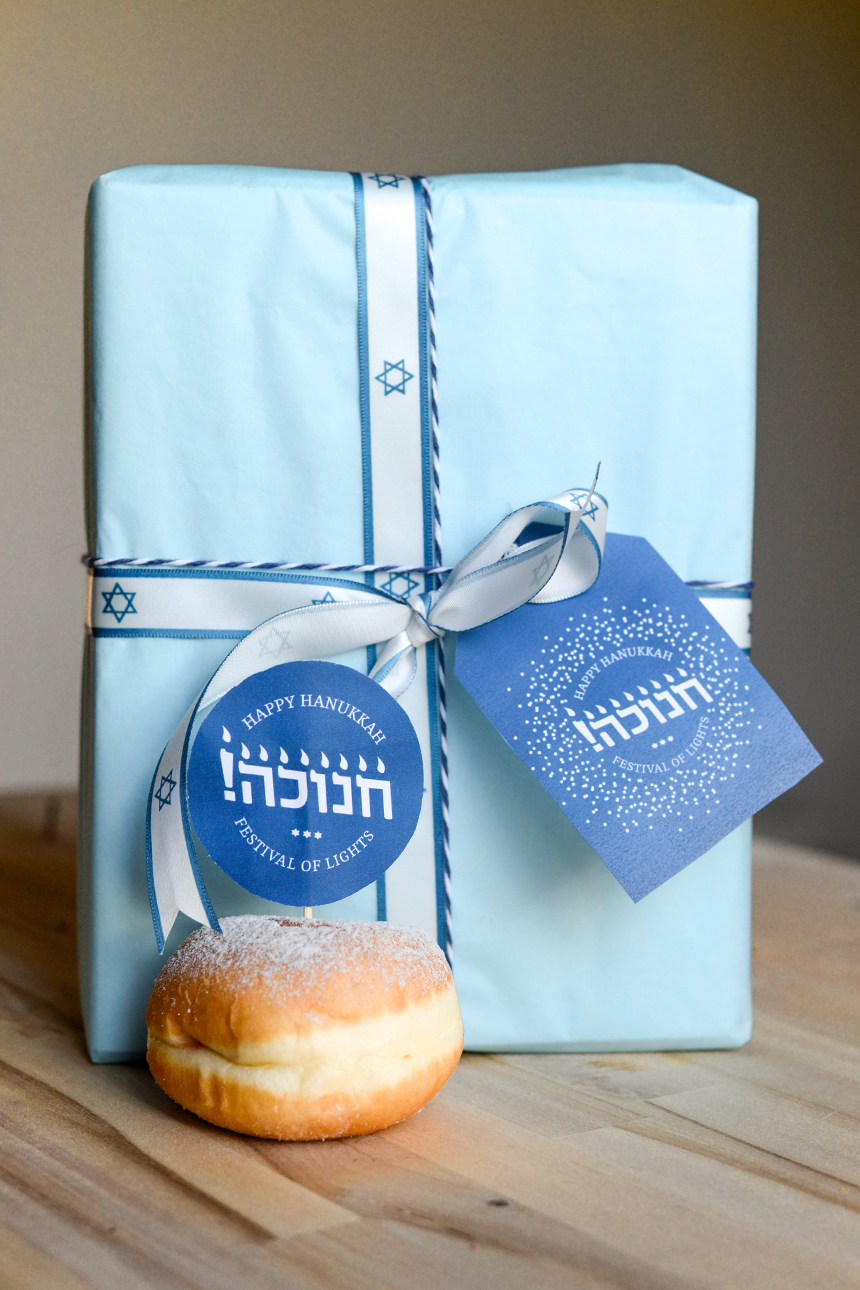 Hannukah gift tags and cake topper